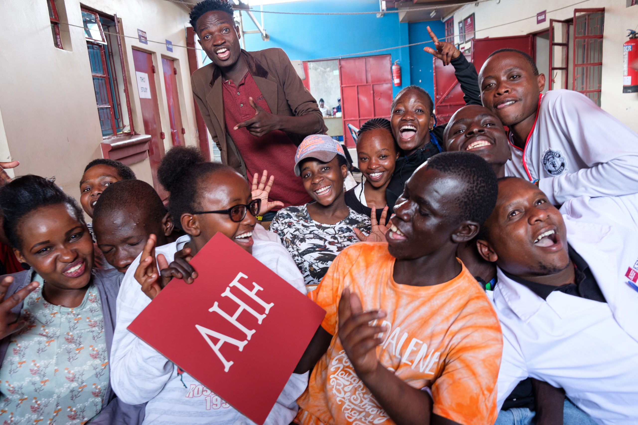 AHF Kenya Youth getting together through our HIV support group sharing their questions regarding HIV